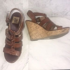 Dolce Vida Wedge Platform Sandals Sz 8